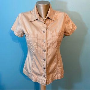 Roughwear button up 100% cotton shirt